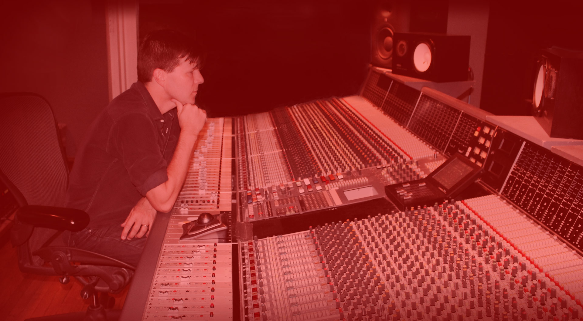 Zac Maloy mixing in the studio.